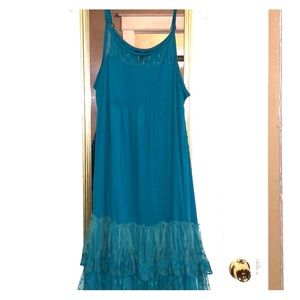 NWT Ryu dress with lace ruffled bottom